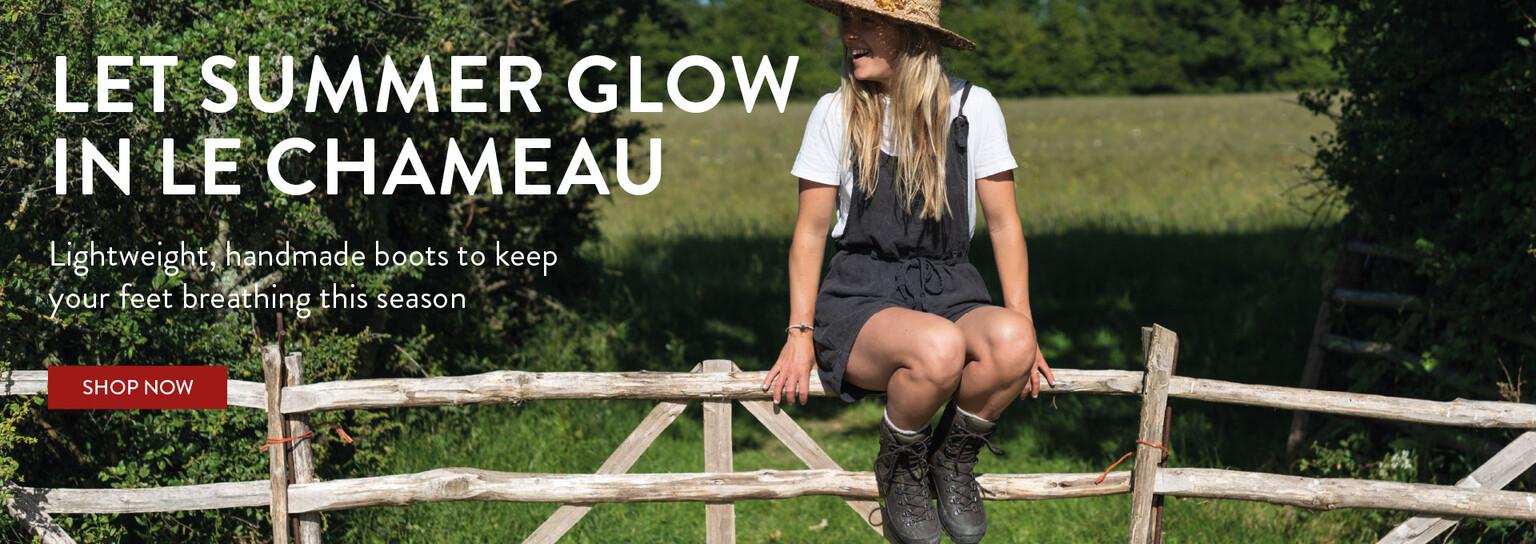 Women's Handmade rubber boots for summer with lightweight lining