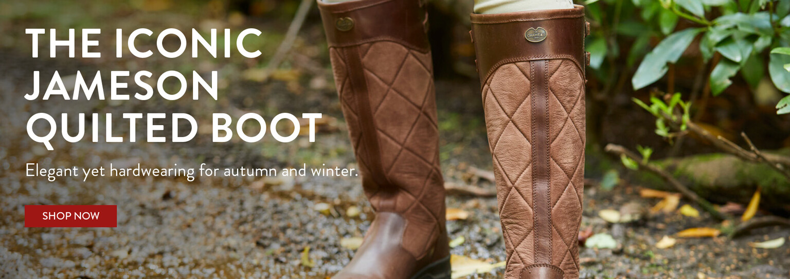 Shop the Iconic Jameson Quilted Boot this Autumn