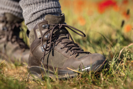 Walking and stalking boots with Michelin soles for grip and durability.