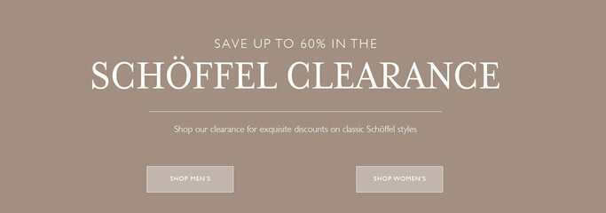 Shop Schoffel Country Clearance