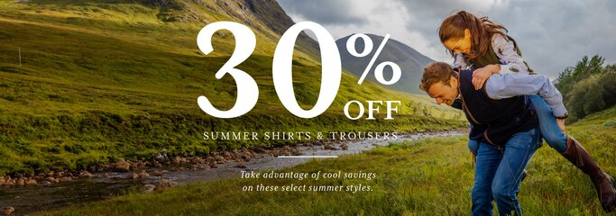 Shop 30% off summer shirts and trousers in the Schoffel sale