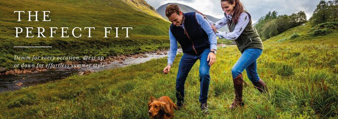 Shop premium denim trousers from Schoffel Country