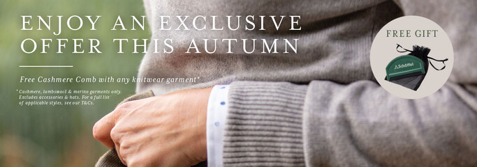Free Cashmere Comb with any knitwear garment