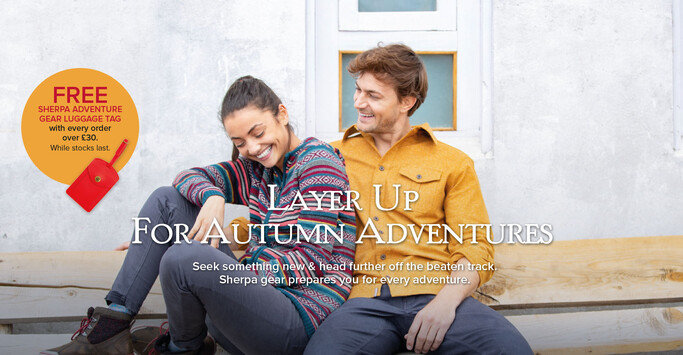 Sherpa Adventure Gear Autumn Travel with Gift With Purchase