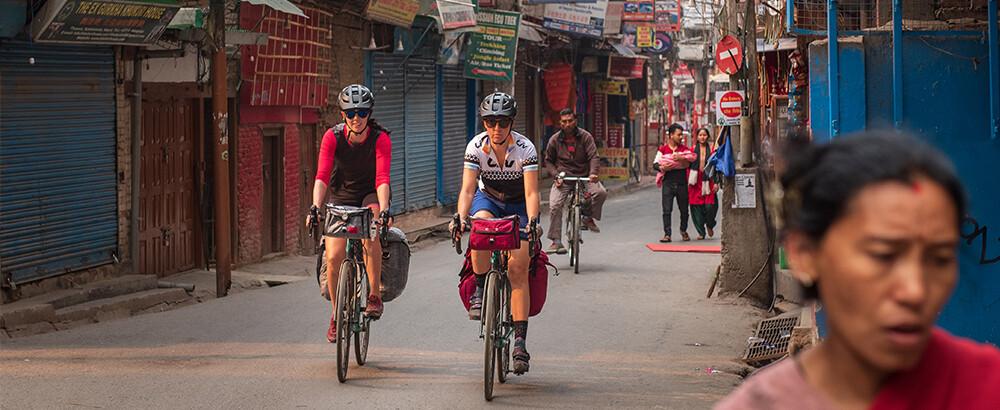 A quaint village we cycled through