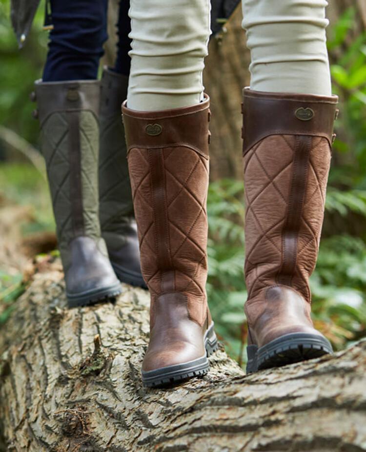 bottes chameau cuir femme