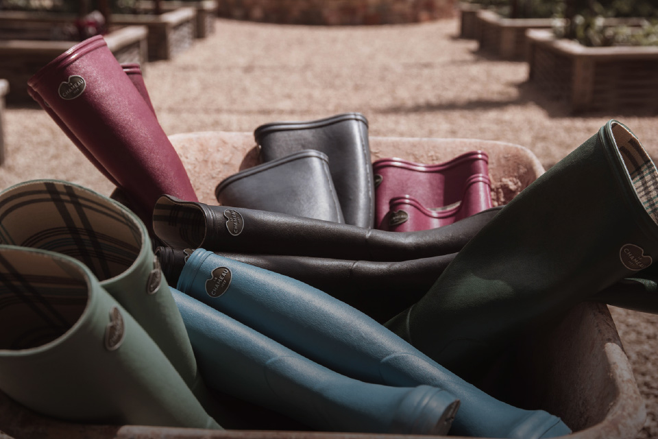 Shop the Iris wellington boot, perfect for bringing colour to any activity