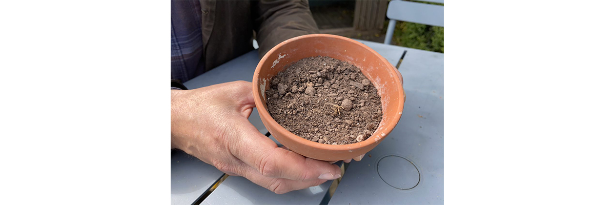 Step One - Fill your pot with compost