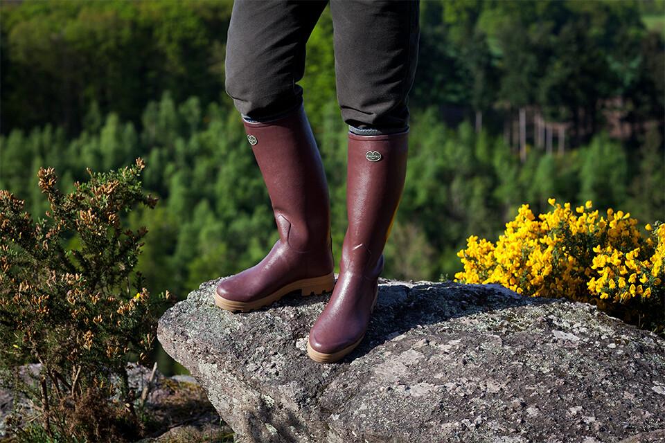 Entdecken Sie den Saint-Hubert-Stiefel mit Lederfutter und erleben Sie das ganze Jahr über hohen Komfort