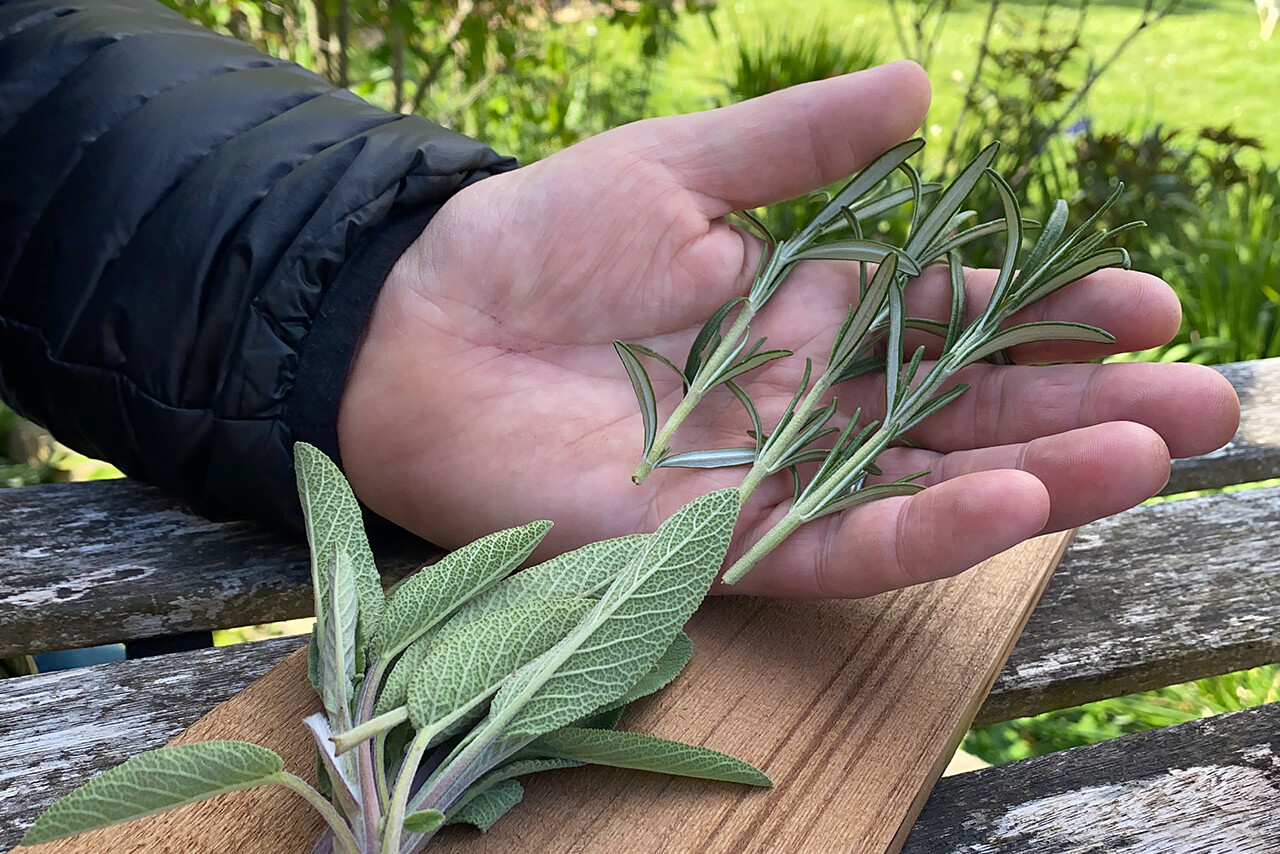 Using french cut herbs