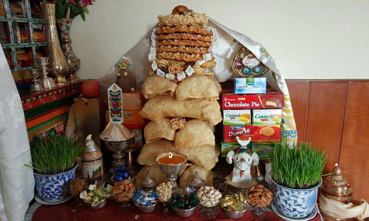 Losar family altar