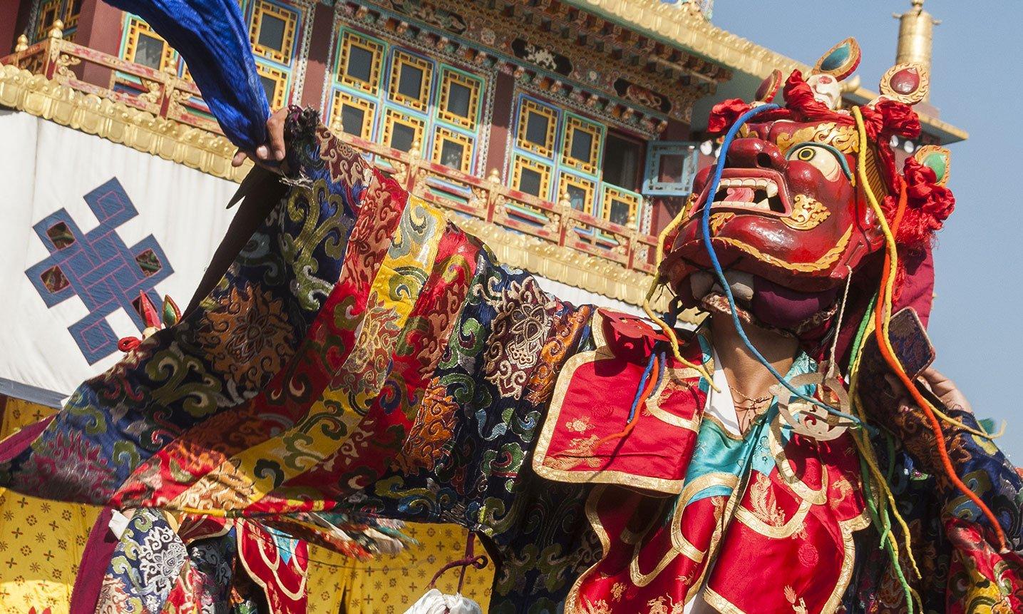 Losar Cham dancers