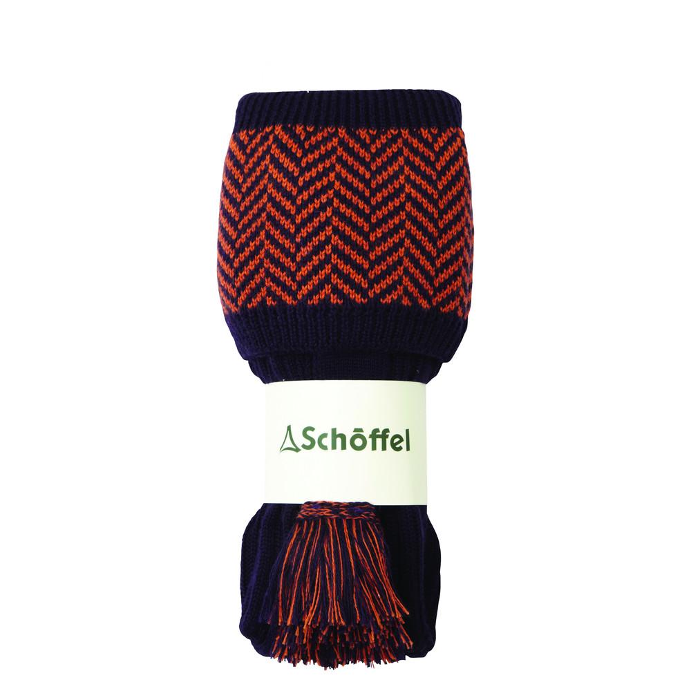 Herringbone Sock Aubergine/Spice
