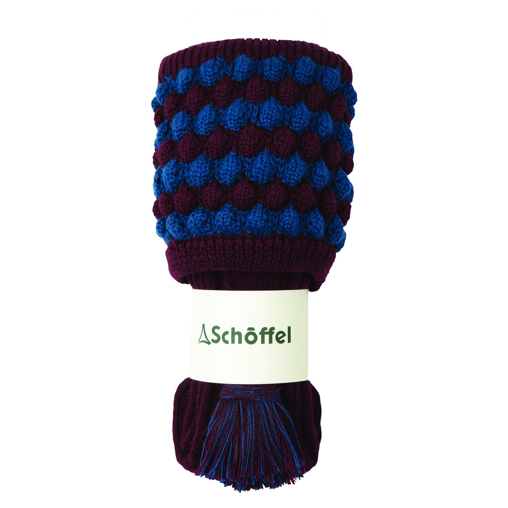 Bobble Sock Mulberry/Blue