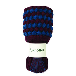 Schoffel Country Bobble Sock in Mulberry/Blue