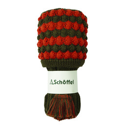 Schoffel Country Bobble Sock in Forest/Spice