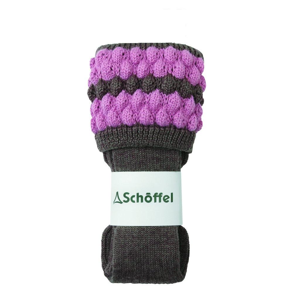 Ladies Bobble Sock Mink/Rose