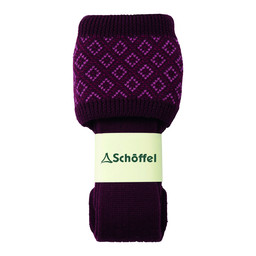 Schoffel Country Diamond Sock in Mulberry