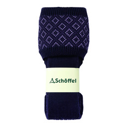Schoffel Country Diamond Sock in Purple