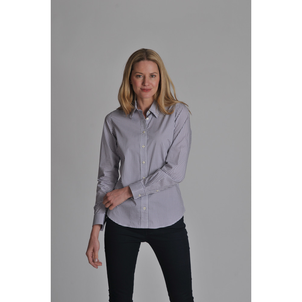 Suffolk Shirt Heather Houndstooth