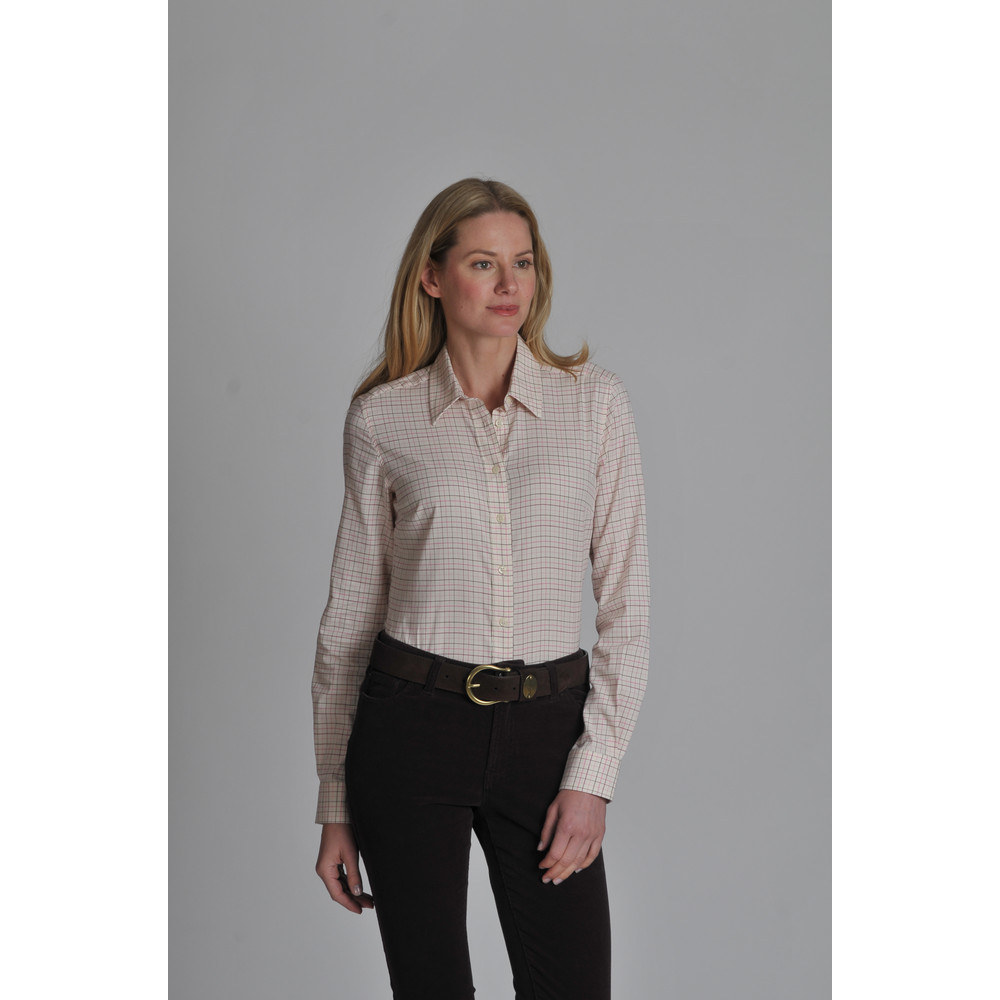 Ladies Tattersall Shirt Rose Tattersall