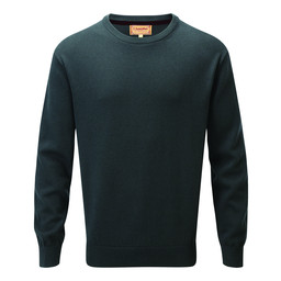Schoffel Country Cotton Cashmere Crew Jumper in Forest