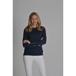Cotton Cashmere Crew Neck