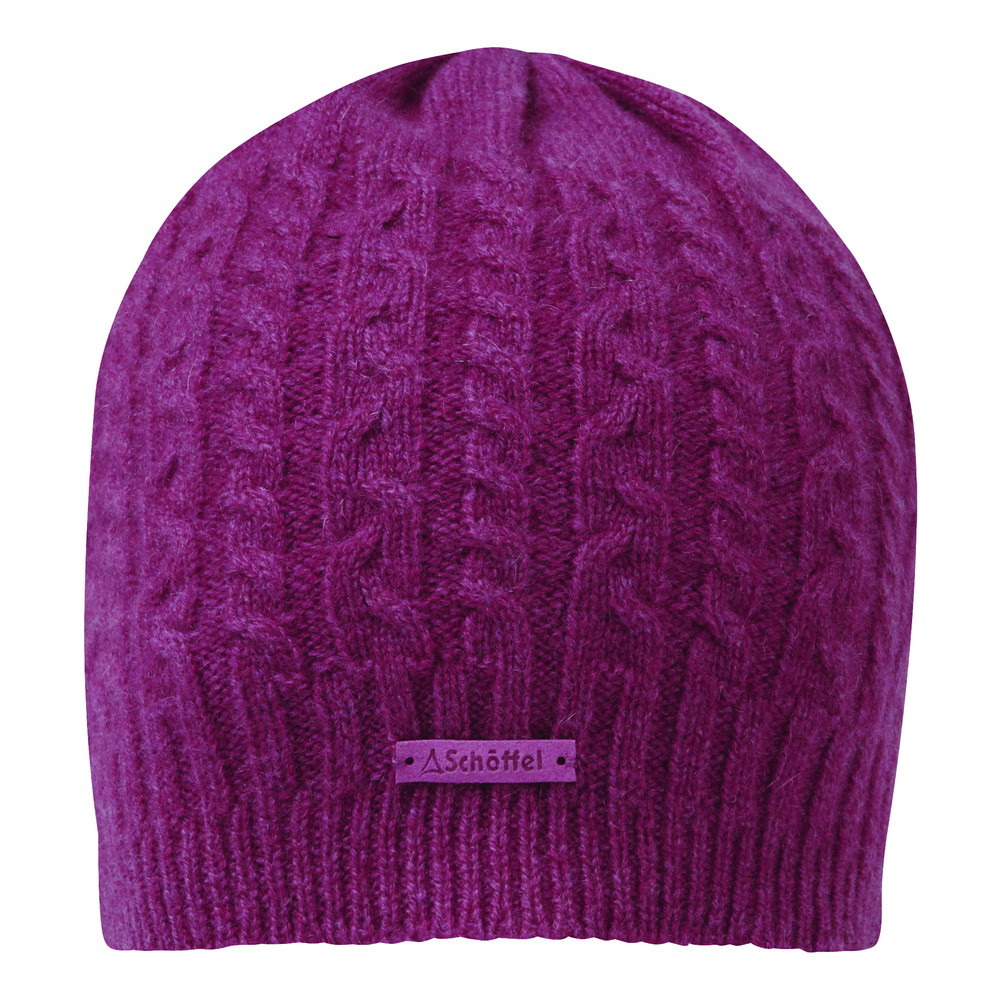 Cashmere Cable Hat Raspberry