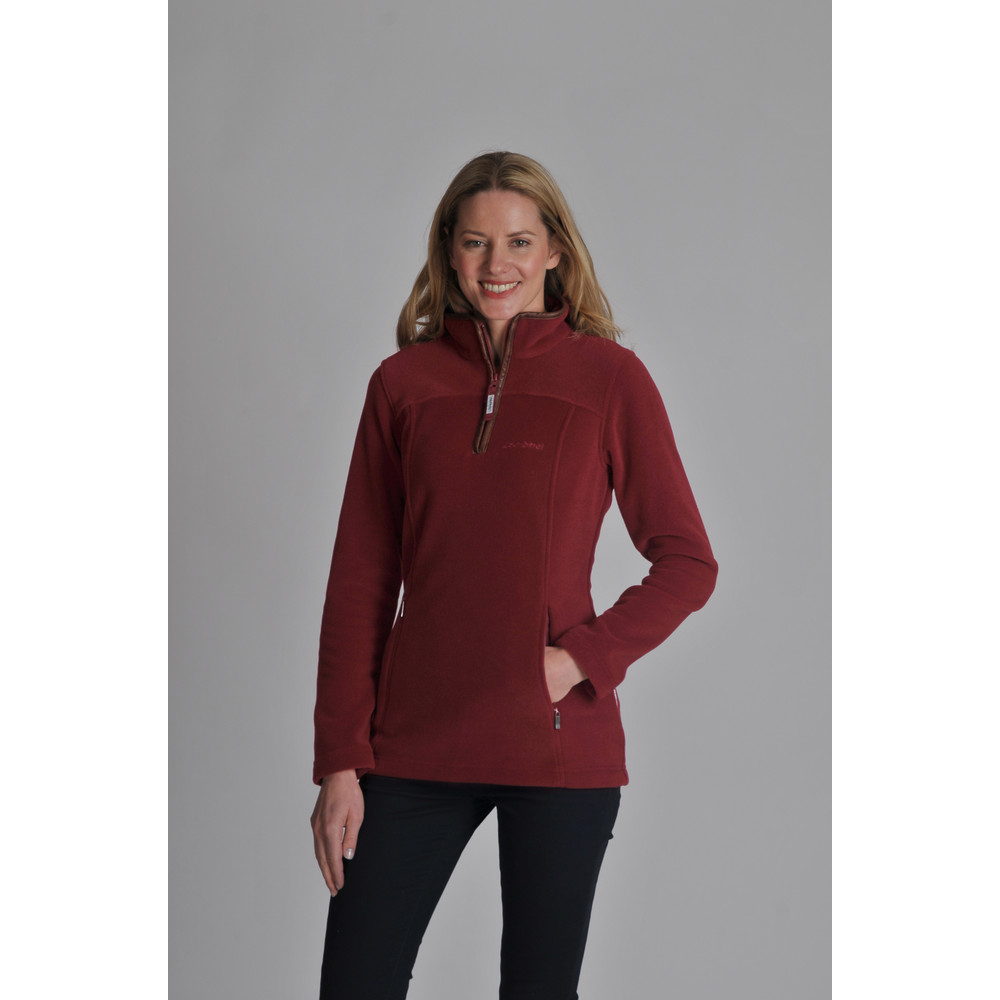 Tilton 1/4 Zip Fleece Ruby