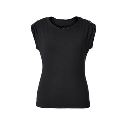 Royal Robbins Noe Twist S/S Top in Jet Black