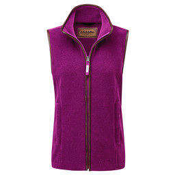Schoffel Country Lyndon II Fleece Gilet in Raspberry
