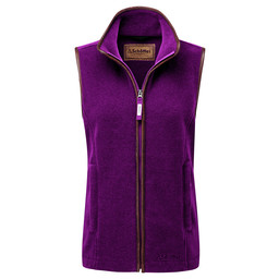 Schoffel Country Lyndon II Fleece Gilet in Plum