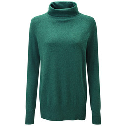 Schoffel Country Cotton Cashmere Turtle Neck in Kingfisher