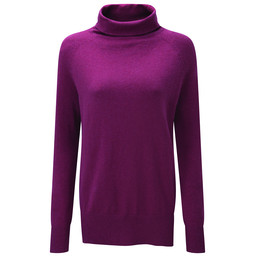 Schoffel Country Cotton Cashmere Turtle Neck in Raspberry