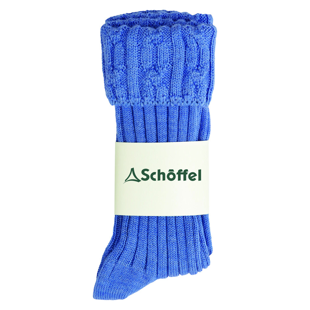 Ladies Short Boot Sock Bluebell