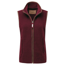 Schoffel Country Lyndon II Fleece Gilet in Ruby
