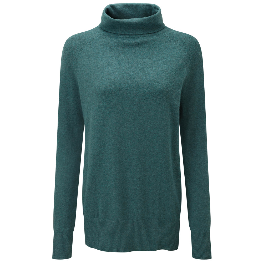 Cotton Cashmere Turtle Neck Kingfisher