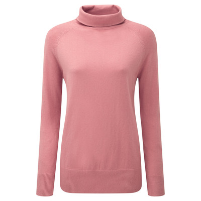 Schoffel Country Cotton Cashmere Turtle Neck in Rose