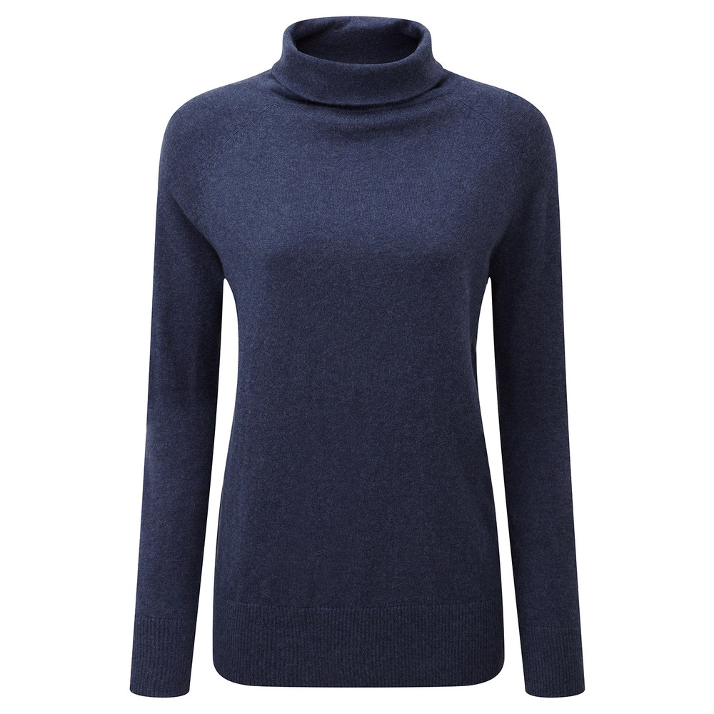 Cotton Cashmere Turtle Neck Indigo