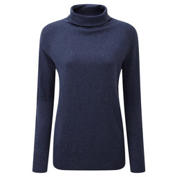 Schoffel Country Cotton Cashmere Turtle Neck in Indigo