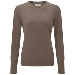 Schoffel Country Cotton Cashmere Crew Neck in Mink