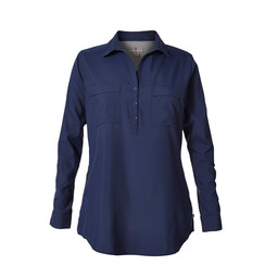Royal Robbins Bug Barrier Expedition Tunic in Deep Blue