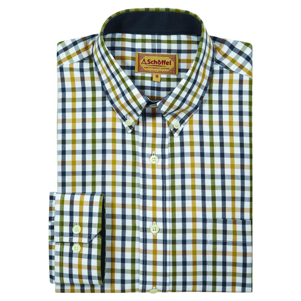 Brancaster Shirt Olive Check