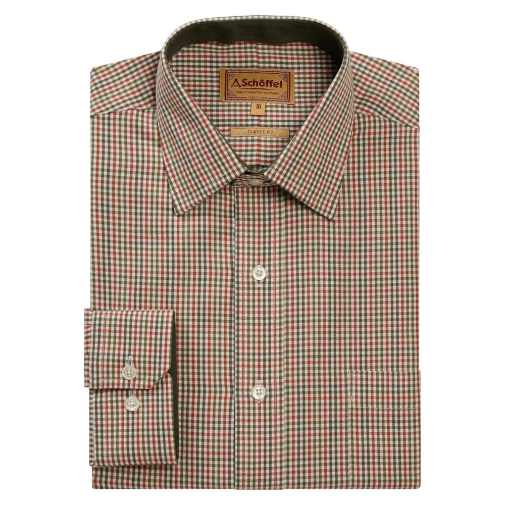 Burnham Tattersall Shirt Olive
