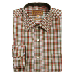 Schoffel Country Burnham Tattersall Classic Shirt in Olive