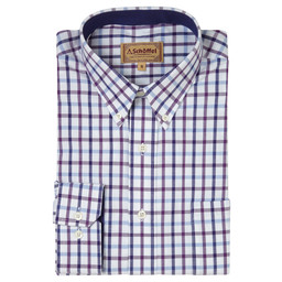 Schoffel Country Brancaster Shirt in Purple