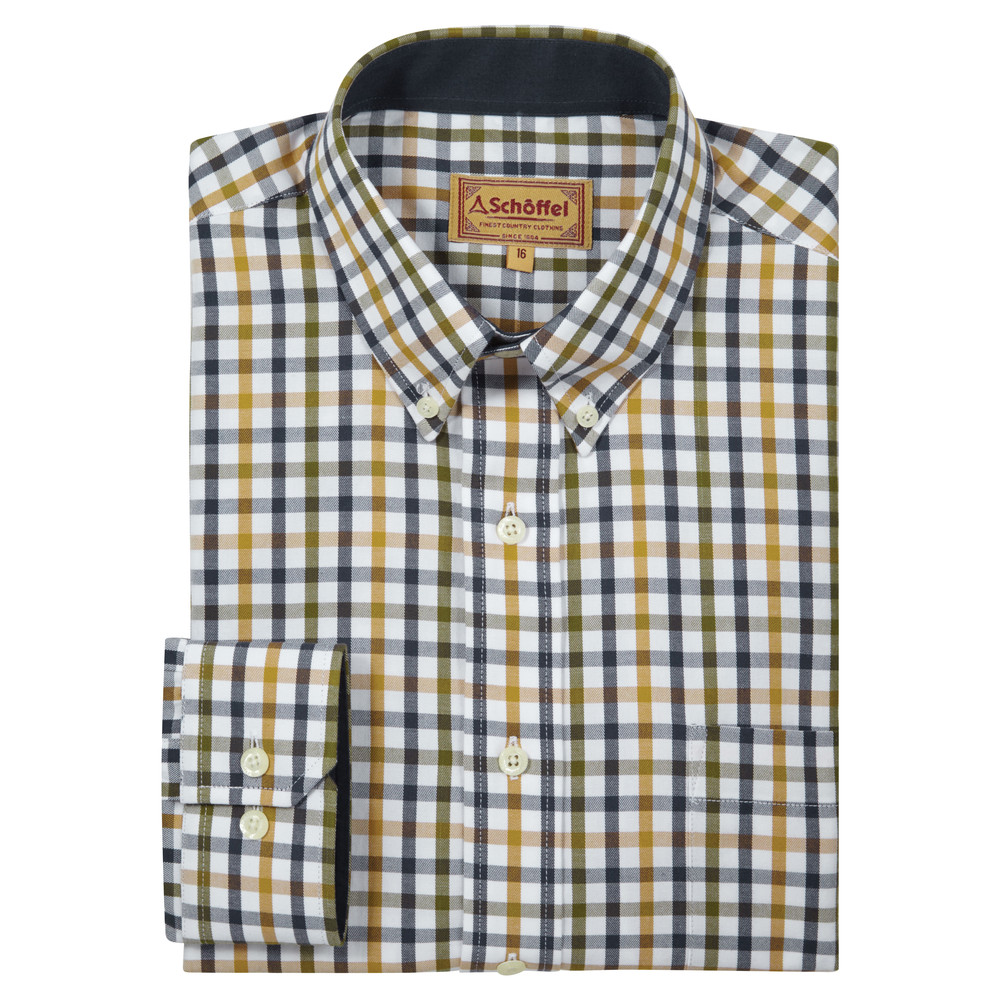 Brancaster Classic Shirt Olive Check