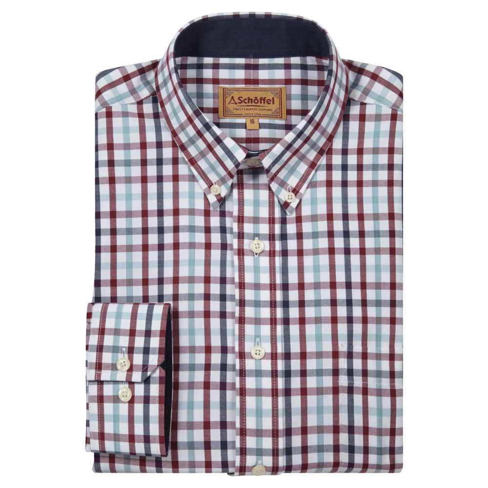 Brancaster Shirt Sky Blue Check