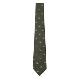 Schoffel Country Silk Tie in Dark Olive