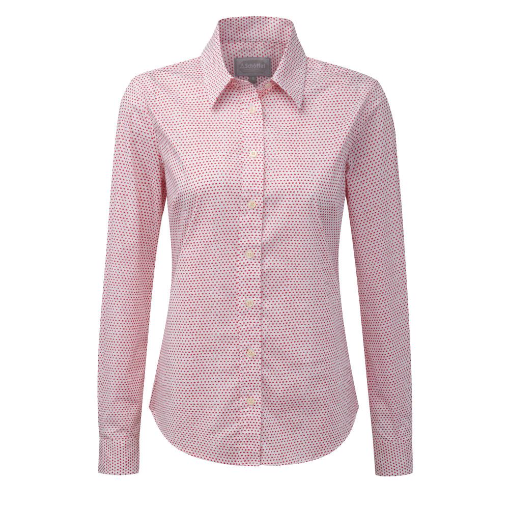 Suffolk Shirt Coral Dot